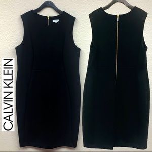 Calvin Klein 18W Scoop Neck Sleeveless Dress Plus